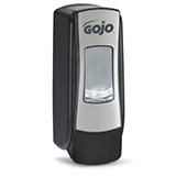GOJO ADX-7 Push-Style Dispenser for GOJO Foam Soap, Chrome/Black. MFID: 8788-06