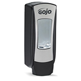 GOJO ADX-12 Push-Style Dispenser for GOJO 1200mL Foam Soap, Chrome/Black. MFID: 8888-06