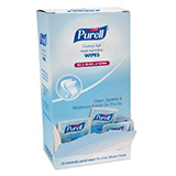 PURELL Cottony Soft Hand Sanitizing Wipes, 120 Individually-Packed Wipes in Box. MFID: 9027-12