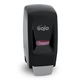 GOJO 800 Series Bag-in-Box Push-Style Dispenser for GOJO Lotion Soap, Black. MFID: 9033-12