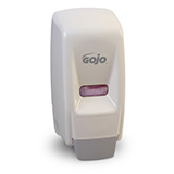 GOJO 800 Series Bag-in-Box Push-Style Dispenser for GOJO Lotion Soap, White. MFID: 9034-12