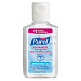 PURELL Advanced Hand Sanitizer Refreshing Gel, 2 fl oz Portable Flip Cap Bottle. MFID: 9605-24