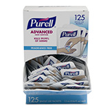 PURELL SINGLES Advanced Hand Sanitizer, Refreshing Gel, 0.04 oz Packets, Display Box. MFID: 9630-12-125CT-NS