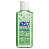 PURELL Advanced Hand Sanitizer Soothing Gel with Aloe & Vitamin E, 4 fl oz Flip Cap Bottle. MFID: 9631-24