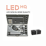 HEINE LED Diagnostic Set: BETA 200 FO Otoscope, BETA 200 Ophthalmoscope, BETA 4 NT Rechargeable Handle, NT 4 Table Charger. MFID: A-132.24.420