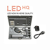 HEINE LED Diagnostic Set: BETA 200 FO Otoscope, BETA 200 Ophthalmoscope, BETA 4 USB Rechargeable Handle, USB Cord & Plug-In Power Supply. MFID: A-132.28.388