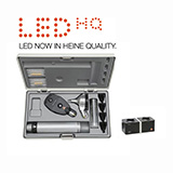 HEINE LED Diagnostic Set: BETA 400 FO Otoscope, BETA 200 Ophthalmoscope, BETA 4 NT Rechargeable Handle, NT 4 Table Charger. MFID: A-153.24.420