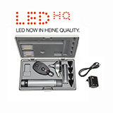HEINE LED Diagnostic Set: BETA 400 FO Otoscope, BETA 200 Ophthalmoscope, BETA 4 USB Rechargeable Handle, USB Cord & Plug-In Power Supply. MFID: A-153.28.388
