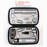 HEINE LED Diagnostic Set: BETA 400 LED Otoscope, BETA 200 LED Ophthalmoscope, BETA 4 USB Handle, Power Supply. Student | Resident. MFID: A-172.28.388S