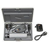 HEINE XHL Diagnostic Set: K180 Ophthalmoscope, K180 FO Otoscope, BETA 4 USB Rechargeable Handle, USB Cord & Plug-In Power Supply. MFID: A-279.27.388