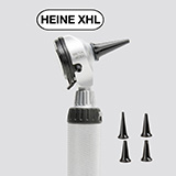 HEINE BETA 400 XHL Fiber Optic Otoscope Head with 4 Reusable Ear Tips. MFID: B-002.11.401