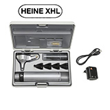 HEINE BETA 400 XHL Fiber Optic Otoscope Set, BETA 4 USB Rechargeable Handle, USB cord & plug-in power supply, Hard Case. MFID: B-143.27.388