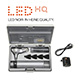 HEINE BETA 400 LED Fiber Optic Otoscope Set, BETA 4 USB Rechargeable Handle, USB cord & plug-in power supply, Hard Case. MFID: B-143.28.388