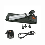 HEINE K180 XHL Fiber Optic Otoscope Set, BETA 4 USB Rechargeable Handle, USB Cord & Plug-In Power Supply. MFID: B-181.27.388