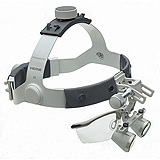 "HEINE 2.5x HR Binocular Loupes Set on Headband/Splash Guard, 420mm (16"") Working Distance. MFID: C-000.32.366"