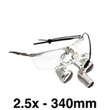 HEINE LED LoupeLight 2, mPack mini, S-Frame, HR Loupes 2.5x 340mm Working Distance. C-008.32.450