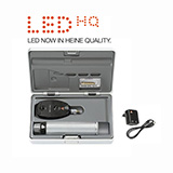 HEINE BETA 200 LED Ophthalmoscope Set, BETA 4 USB Rechargeable Handle, USB Cord & Plug-In Power Supply. MFID: C-144.28.388