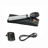 HEINE K180 XHL Ophthalmoscope Set, BETA 4 USB Rechargeable Handle, USB Cord & Plug-In Power Supply. MFID: C-182.27.388