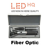 HEINE mini 3000 LED Fiber Optic Otoscope Set, mini 3000 battery handle, Hard Case. MFID: D-885.20.021
