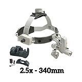 HEINE ML4 LED Headlight Kit, EN50 Unplugged Power Source, HR Binocular Loupe 2.5 x / 340mm. MFID: J-008.31.458