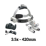HEINE ML4 LED Headlight Kit, EN50 Unplugged Power Source, HRP Binocular Loupe 3.5 x / 420mm. MFID: J-008.31.460