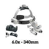 HEINE ML4 LED Headlight, EN50 Unplugged, HRP Binocular Loupe 6.0 x / 340mm. J-008.31.462
