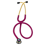 3M Littmann Classic II Infant Stethoscope, Rainbow-finish Chestpiece, Raspberry Tube. MFID: 2157