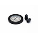 Littmann Spare Parts Kit for Master Cardiology Stethoscope: Small Snap Tight Soft-Sealing Eartips, Rim/Diaphragm, Black, each. MFID: 40011E