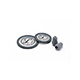 Littmann Spare Parts Kit for Classic III Stethoscope: Small Snap Tight Soft-Sealing Eartips, Adult Diaphragm, Pediatric Single Diaphragm, Gray, each. MFID: 40017E