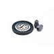 Littmann Spare Parts Kit for Master Cardiology Stethoscope: Small Snap Tight Soft-Sealing Eartips, Rim/Diaphragm, Gray, each. MFID: 40018E