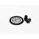 Littmann Spare Parts Kit for Master Classic Stethoscope: Small Snap Tight Soft-Sealing Eartips, Rim/Diaphragm, Black, each. MFID: 40022E