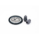 Littmann Spare Parts Kit for Master Classic Stethoscope: Small Snap Tight Soft-Sealing Eartips, Rim/Diaphragm, Gray, each. MFID: 40023E