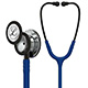 3M Littmann Classic III Stethoscope, Mirror Chestpiece, Navy Blue Tube, Smoke Stem & Headset. MFID: 5863