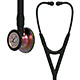 3M Littmann Cardiology IV Stethoscope, Rainbow Chestpiece, Black Tube, Stem & Headset. MFID: 6165