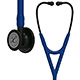 3M Littmann Cardiology IV Stethoscope, Black Chestpiece, Navy Blue Tube, Black Stem & Headset. MFID: 6168
