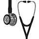 3M Littmann Cardiology IV Stethoscope, Mirror Chestpiece & Stem, Black Tube, Stainless Headset. MFID: 6177