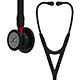 3M Littmann Cardiology IV Stethoscope, Black Chestpiece, Black Tube, Red Stem & Black Headset. MFID: 6200