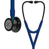 3M Littmann Cardiology IV Stethoscope, Smoke Chestpiece, Navy Tube, Blue Stem & Black Headset. MFID: 6202