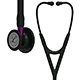 3M Littmann Cardiology IV Stethoscope, Black Chestpiece, Black Tube, Violet Stem & Black Headset. MFID: 6203