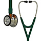 3M Littmann Cardiology IV Stethoscope, Champagne Chestpiece, Hunter Green Tube, Orange Stem & Champagne Headset. MFID: 6206