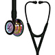 3M Littmann Cardiology IV Stethoscope, High Polish Rainbow-Finish, Black Tube, Smoke Stem, Smoke Headset. MFID: 6240