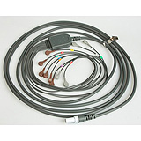 "Patient Cable for Quinton Q-Stress or Burdick HeartStride, AHA 25"", snap connection. MFID: 60-00181-01"