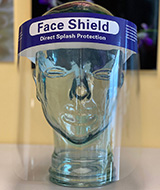 "Face Shield, Full Face with Foam Headpiece, 9"" Length. MFID: MD0502104"