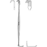 "MeisterHand SENN Retractor, 6-3/8"" (16.2 cm), sharp, double end. MFID: MH11-74"