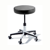 RITTER 274 Manual Screw Adjustable Physician Stool with Chrome Caster base. MFID: 274-001