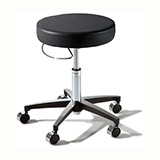 RITTER 276 Air-Lift Stool with Hand Release and Chrome Caster Base. MFID: 276-001