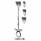 "MILTEX MURPHY Retractor, 7-1/2"" (19.1 cm), sharp, 6 prongs. MFID: 11-566"