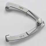 "MILTEX SAUER Eye Speculum, Solid Blades, 1"" (2.5 cm), for premature infants, 2 mm blades. MFID: 18-3"