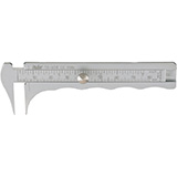 "MILTEX JAMESON Caliper, 3-3/4"" (9.5 cm), graduated in inches & mm with thin tips, chrome. MFID: 18-658"