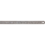 "MILTEX Flexible stainless Ruler 6"" (15.2 cm) X 1/2"" (1.3 cm), graduated in 1/32"" (0.8 mm) fractions & mm. MFID: 18-660"